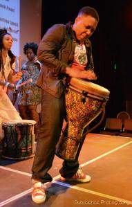 J POPE ON THE DJEMBE
