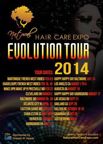 natural hair care expo tour flyler