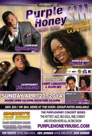 purple honey flyer