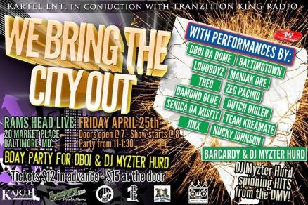 we bring the city out flyer