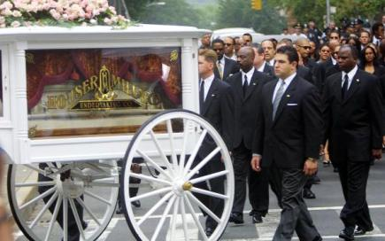 Funeral for Aaliyah in New York City